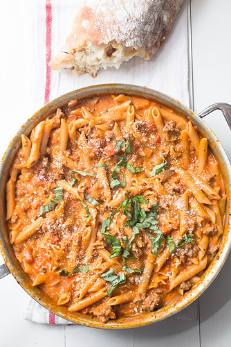 One-Pot Creamy Sausage Pasta | by Smells Like Home