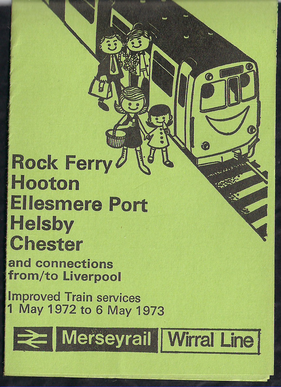 Merseyrail Wirral Timetable From 1st May 1972 to 6th May 1973 by Luke David O'Rourke