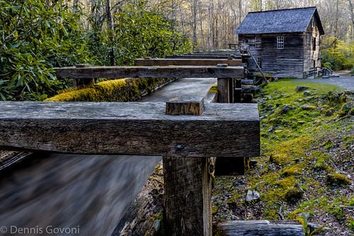 mill water landscape spring cherokee smokymountains mingusmill
