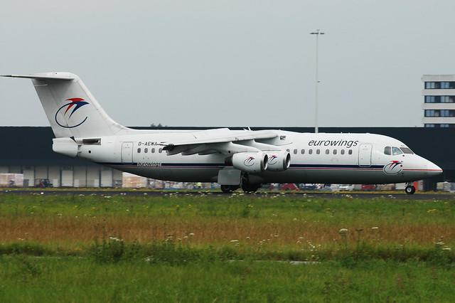 D-AEWA Bae146-300 cn 3163 Eurowings 040801 Schiphol