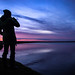 Karine Polwart surveys the Fala Flow at sunset