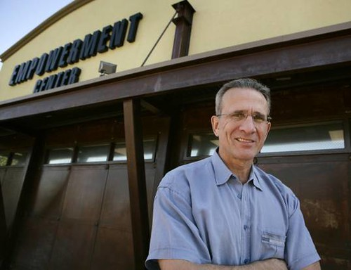 Kip Petroff in front of the Empowerment Center