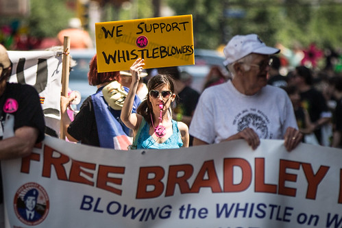 We Support Whistleblowers / Free Bradley Manning / Twin Cities Pride Parade | by Tony Webster
