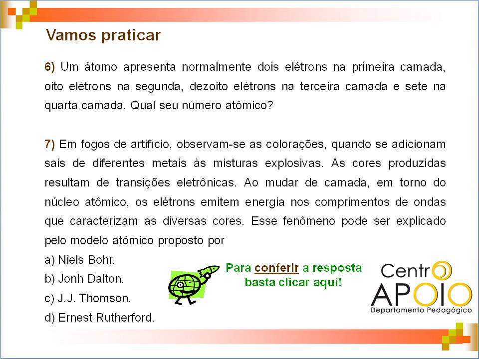 Estrutura Atômica 46 Química Estrutura Atômica Cadast