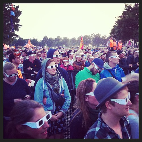 We are the robots #kraftwerk #orangefeeling #rf13 | by Simon Fredslund