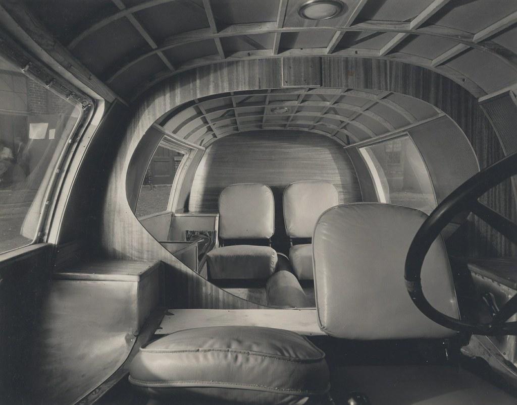 Buckminster Fuller Dymaxion Car Interior View 1933