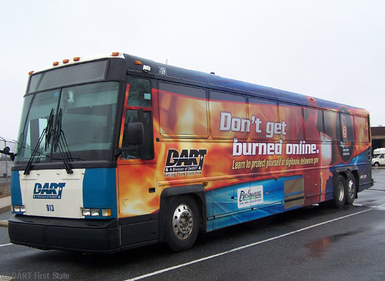 DART's bus with DTI wrap (front) 2-11-13 | Dart First State