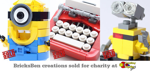BricksBen - LEGO Despicable Me Minion Retro Typewriter WALL-E - Sold at Creations for Charity 2013 | by BricksBen LEGO® Creations