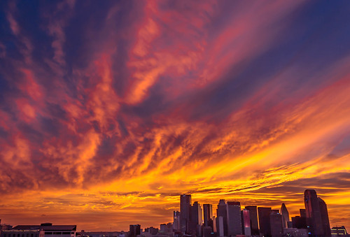 sunset skyline clouds dallas skies texas tx cityscapes
