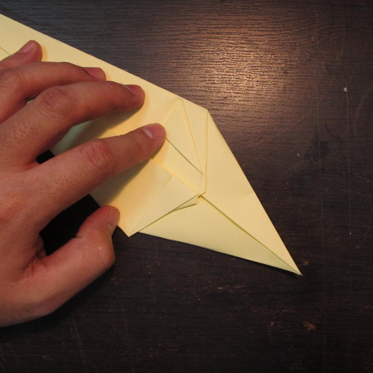 วิธีการพับกระดาษเป็นรูปหงส์ 007