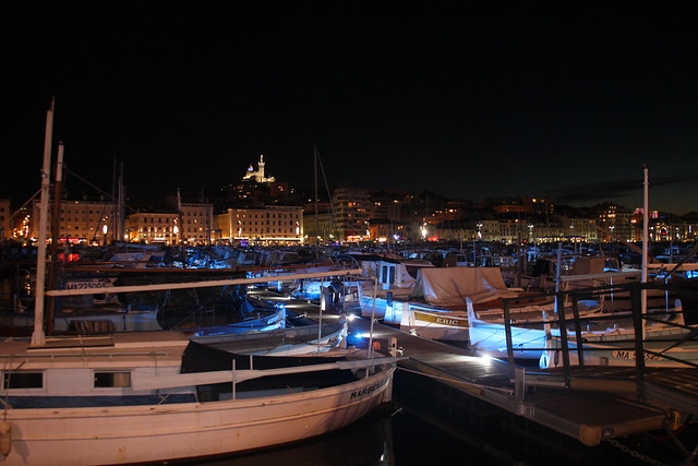 le vieux port, by night