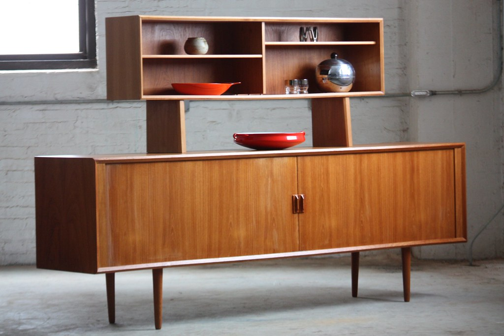 Danish Credenza Hutch : Unforgettable danish mid century modern teak tambour door u flickr