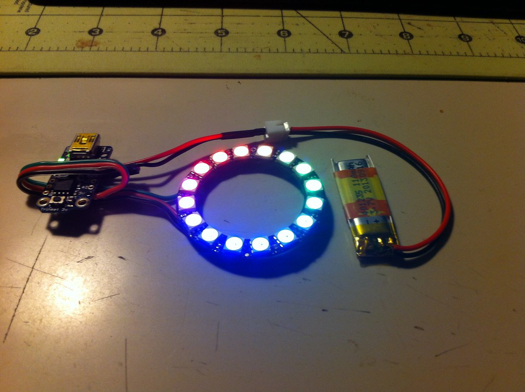 NeoPixel ring project | Just a little toy made from off-the