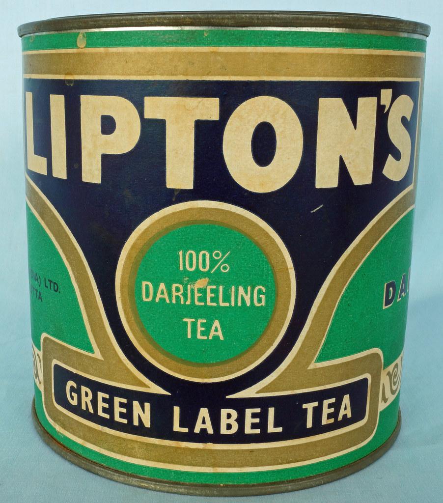 RD0689 Lipton's Green Label Tea Tin 500grams DSC08372