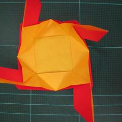 สอนวิธีพับกระดาษเป็นดอกกุหลาบ (แบบฐานกังหัน) (Origami Rose - Evi Binzinger) 014