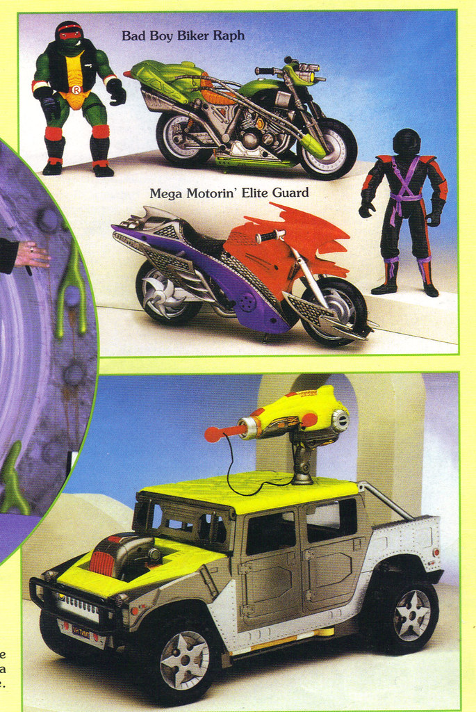 """Tomart's Action Figure Digest #xx :: pgs.26, 27 TOY FAIR '97, PLAYMATES """"NINJA TURTLES: THE NEXT MUTATION / ..early Cycle assortment & 'Mutant Marauder'  (( April 1997 )) by tOkKa"""