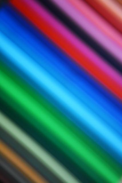 blurred colored pencils