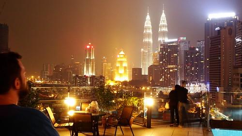 city me night buildings landscape petronas kualalumpur