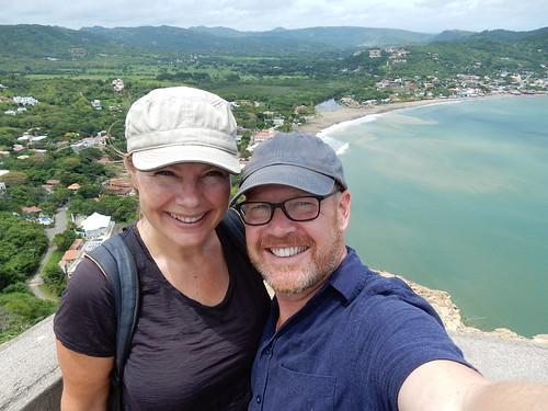 San Juan del Sur - selfie met baai