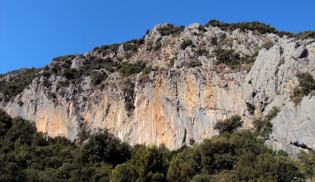The climbing cliff at Cennet, Olimpos by bryandkeith on flickr