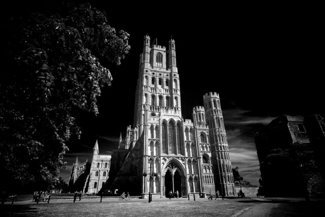 Ely Cathedral - monochrome pseudo-IR effect