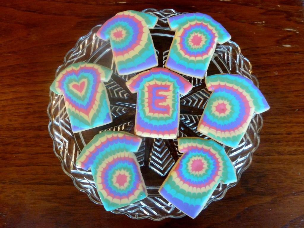 Tie Dye Cookies for my son's birthday   Kelley Hart   Flickr