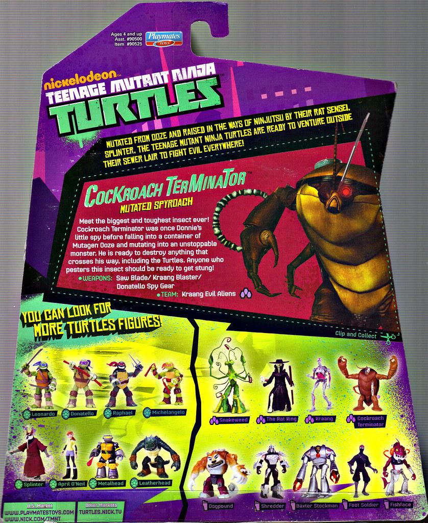 Nickelodeon  TEENAGE MUTANT NINJA TURTLES :: COCKROACH TERMINATOR ..card backer (( 2013 )) by tOkKa