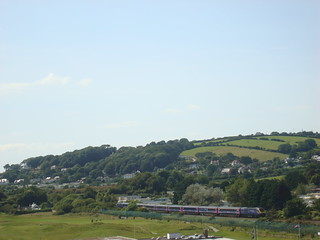 Intercity 125 between Tenby and Penally on the Pembroke Dock branch