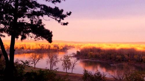 autumn trees sunset fall river florence nebraska bend omaha missouririver riverbend iphone iphonography iphoneography