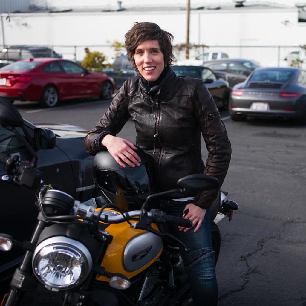 Kari On Her Ducati Scrambler Looking Stylish Motorcyc Flickr
