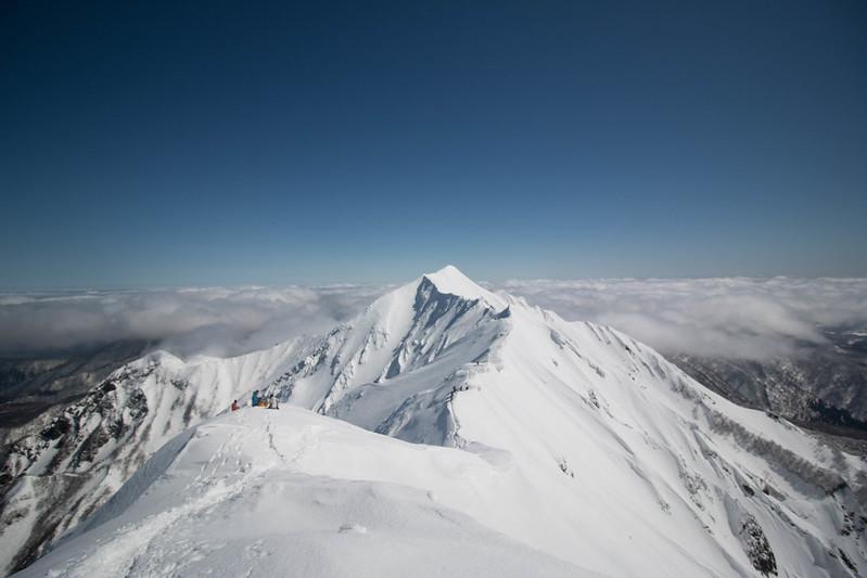 厳冬期の伯耆大山 剣ヶ峰