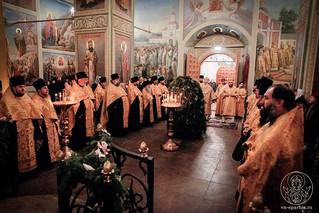Великая вечерня в Иверском монастыре 180