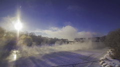 10 Below on the Kennebec; Waterville, Maine