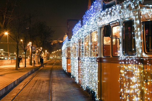 Christmas tram in Budapest 34