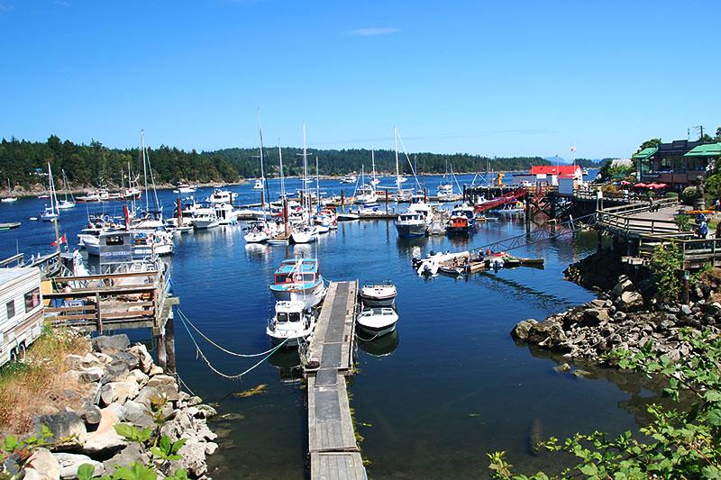 Ganges Harbour, Ganges, Saltspring Island, Gulf Islands, Georgia Strait, British Columbia, Canada