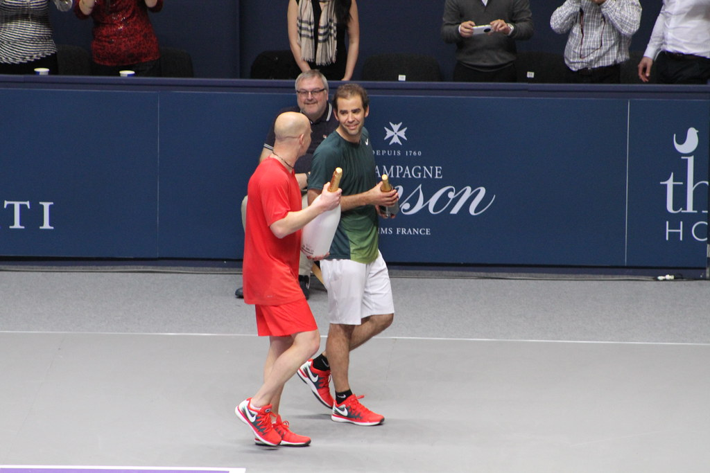 Pete Sampras and Andre Agassi