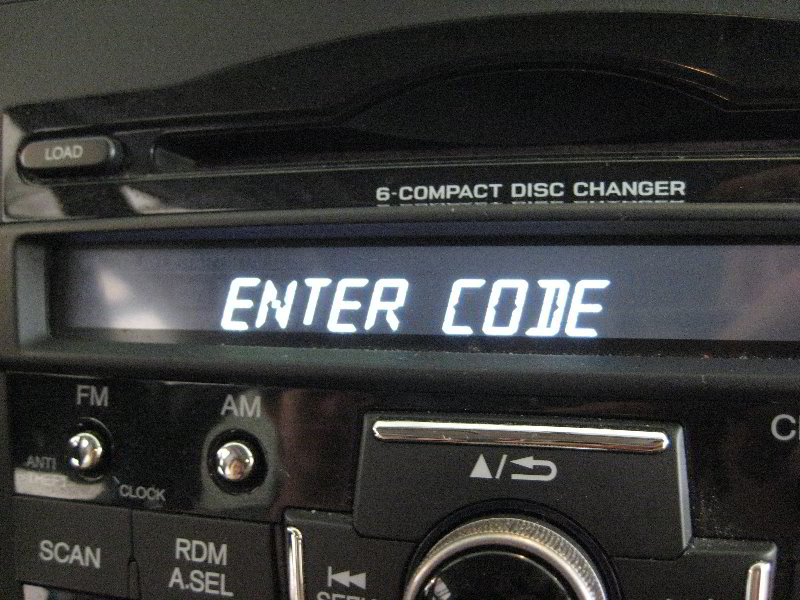 How To Enter Honda Radio Code >> 2011 Honda Cr V Radio Enter Code Message After Replaci Flickr