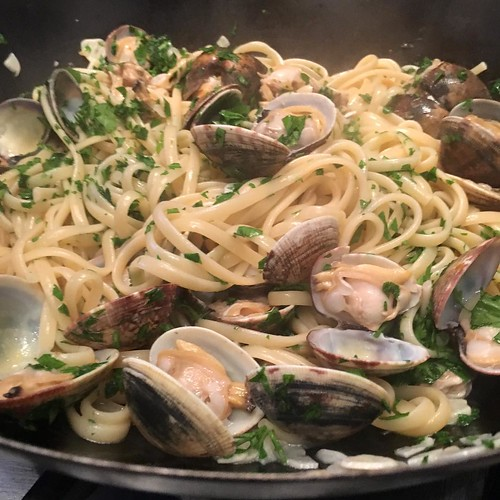 Linguine with clams. | by adactio