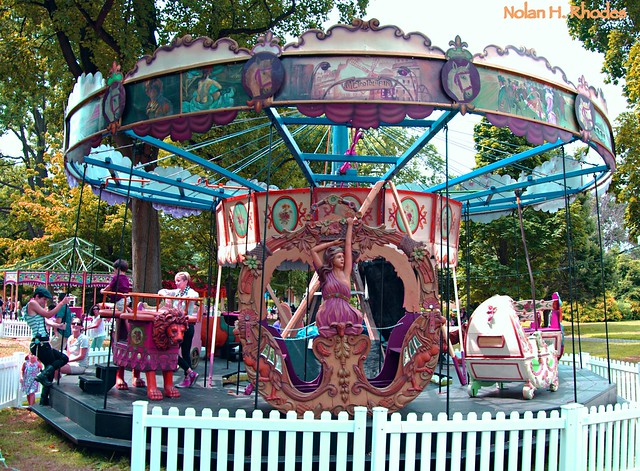 Fête Paridiso, World's First Festival Of Vintage Carnival Rides and Carousels At Governors Island Summer 2013 (A Rare Romantic Museum Quality French Collection)