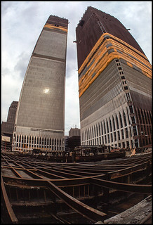 New York 1970, construction of the twin towers | by Dierk Topp
