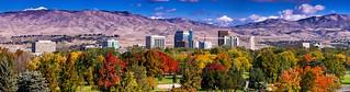 Boise City Skyline Fall   by fandarwin