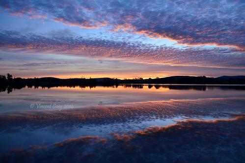 trees ireland sunset sky sun lake water clouds reflections nikon horizon reservoir wicklow countywicklow roundwood vartry d5100