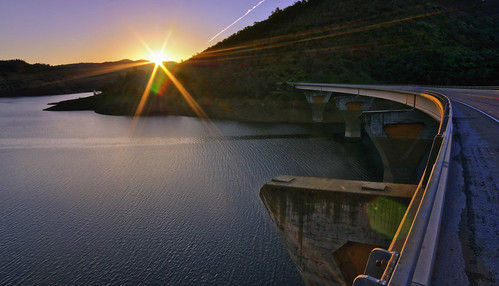 california bridge northerncalifornia sunrise spring yosemite lensflare moccasin highway120 donpedrolake primelens 2013 rokinon northernyosemitehighway toulumnecounty californiahighway120 priestgradecalifornia
