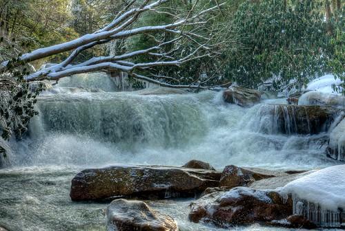 winter nature waterfall wv hdr photomatix hdrextremes deckerscreek pentaxk52s