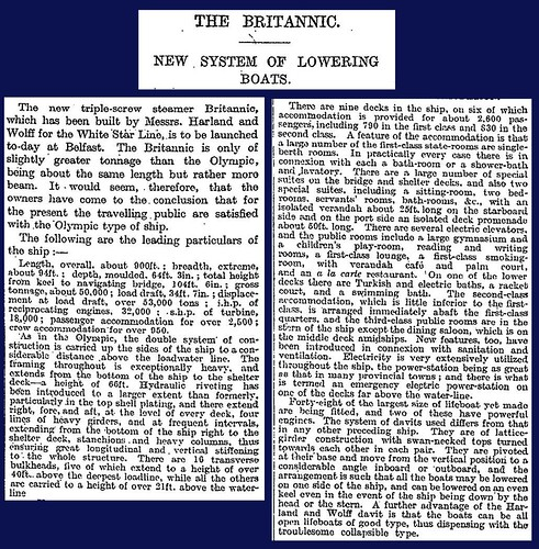 26th February 1914 - SS Britannic launched | by Bradford Timeline