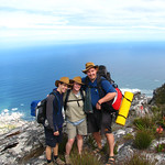 Climbing up, and sleeping on Table Mountain