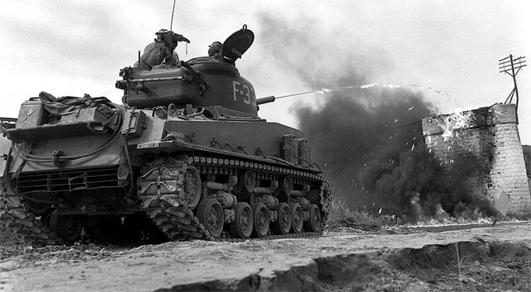 Sherman flamethrower