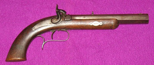 Percussion Target Pistol Made By William Bishop, Springfield, Illinois