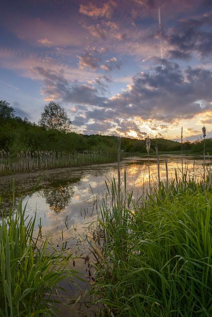 Sunset at Huncote