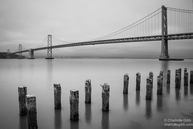 Bay Bridge, San Francisco on a Black & White Day
